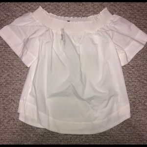 NWT Jcrew white off the shoulder top size 6